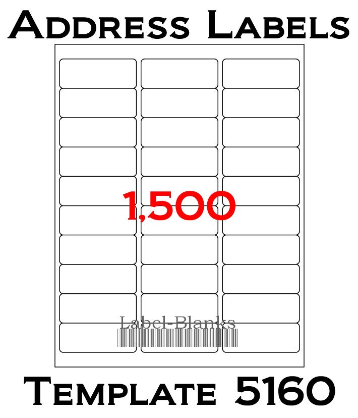 Laser Ink Jet Labels 50 Sheets 1 X 2 58 Avery Template