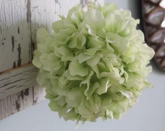 Light Green Hydrangea Flower Kissing Ball