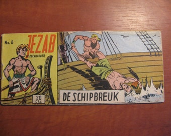 An old Lilliput comic book: Jezab, the Navigator ... The shipwreck ... 1954