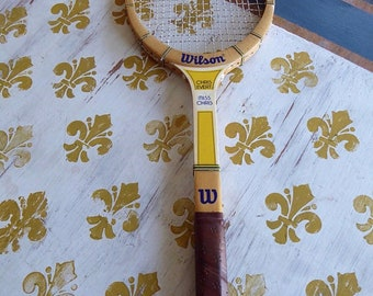 "Vintage CHRIS EVERT  ""Miss Chris"" Wood Tennis Racquet 4 1/2 L Leather Grip"