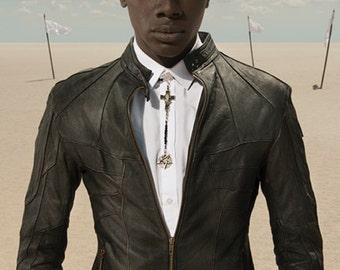 HORNET - Men's Leather Jacket - Black Lambskin - Front Pockets - Handcast Hardware - Moto Jacket - Designer Jan Hilmer