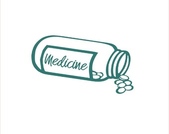 Medicine Bottle Label, Sticker for Pills and Medication, Vinyl Decal