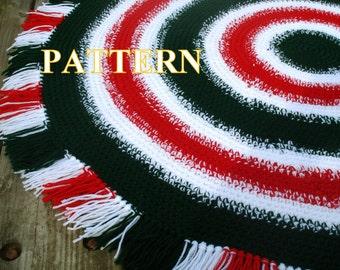 Christmas rug crochet pattern christmas rug pattern crochet christmas rug crochet home decor crochet christmas pattern OlgaAndrewDesigns058
