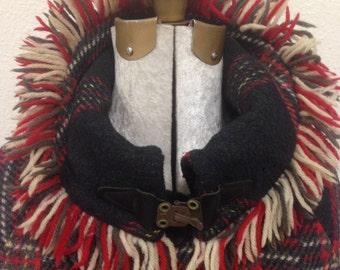 Vintage Plaid Wool Coat/Jacket