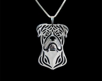 American Bulldog jewelry - sterling silver pendant and necklace
