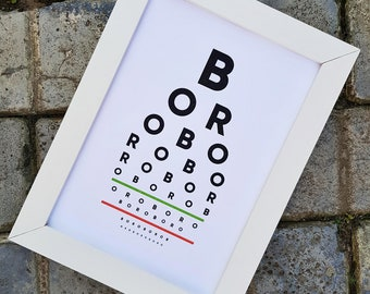 Boro Eye Test (A4 Poster - Unframed)
