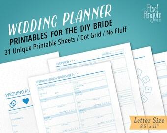 Wedding Planner Printable, Wedding Planner Binder Organizer, Ultimate Wedding Planner Pages For Binder, Wedding Checklist Printable Inserts