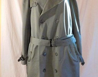 Vintage Stafford Men's Trench Coat Khaki Green Trench Mens Overcoat