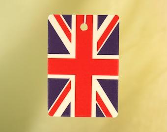 British Flag Car Air Freshener, Vertical
