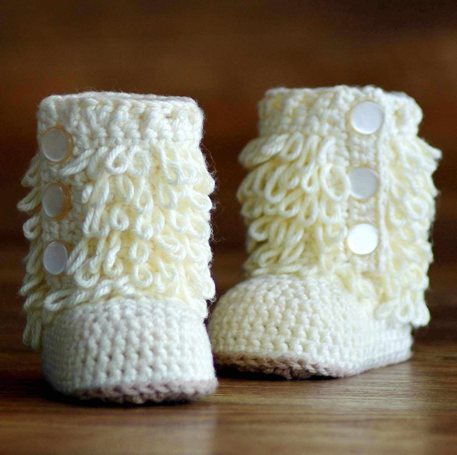 Crochet Pattern Baby Boot - Furrylicious loop boot - Pattern number ...
