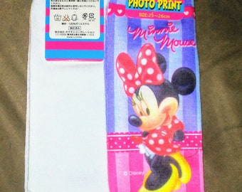Adult One Size Fits Most Minnie Mouse Ankle Socks