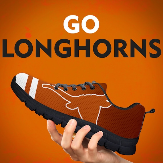 Trainers Gift Kids Mens Collector Sizes Shoes Custom Womens Black Sneakers Gift Longhorns Gift Sports Team Running Texas White Yxq0wIT8