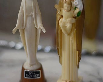 Plastic Vintage Holy Family Statues