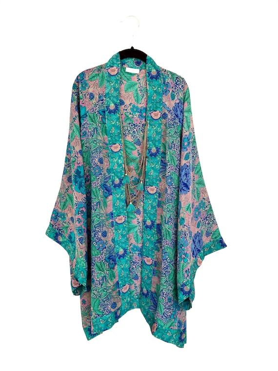 Kimono Bademantel Seide Robe Seide Kimono Seide