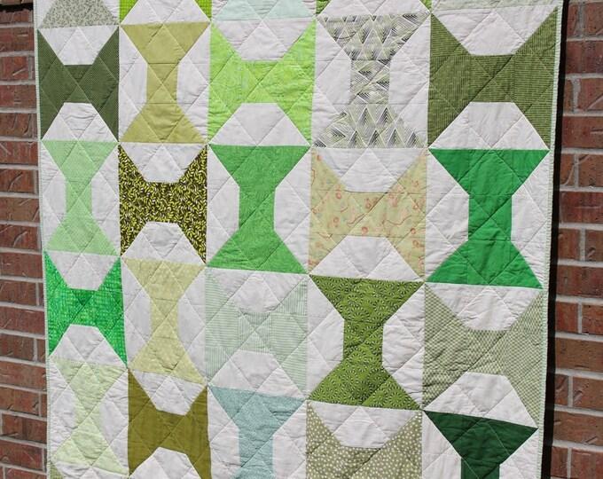 Handmade Green Patchwork Quilt