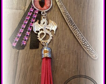 Bookmark with fuchsia eye dragon eye