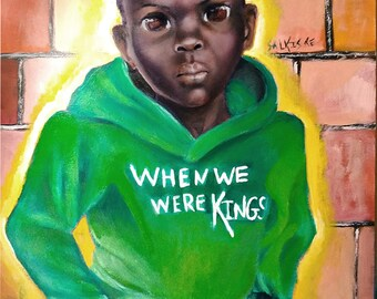 "When we Were Kings"" African Art by Salkis Re"