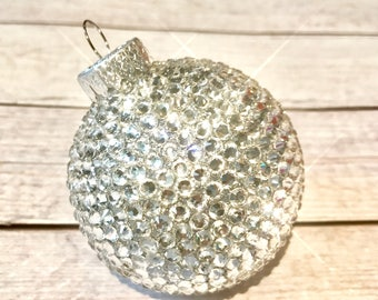 Bling christmas ornament- crystal ornaments- stocking stuffers- bling shatterproof christmas decorations- one of a kind-