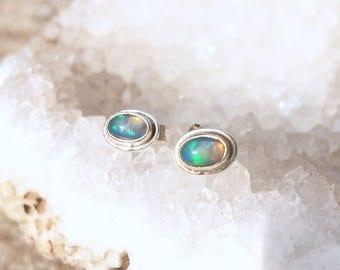 Sterling Silber australische Opal Ohrstecker Ohrringe Ohr Ohrläppchen