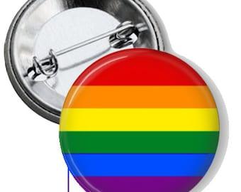 "LGBT Pride 1.25"" Pin Back Button"