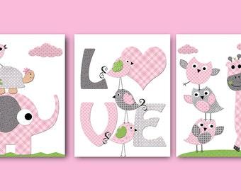 Giraffe Nursery Printable Nursery Print Baby Girl Nursery Decor Download Art Baby Art Digital Print set of 3  8x10 11X14 INSTANT DOWNLOAD