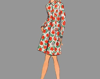 1970s Front Button Dress pattern Vogue 7738 Size 18 Bust 40 Vintage, A-line dress, Coat dress, Front button dress, Step in Dress, Complete
