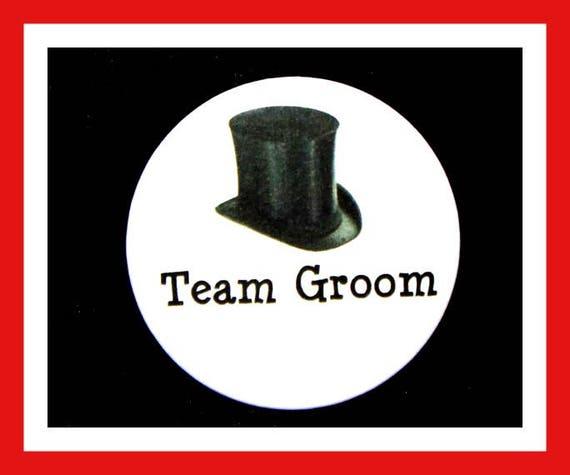 "Team Groom Favors,Wedding Favors,Bachelor Favors,Engagement Party Favors,Button Pin, 2.25""  Set of 10"