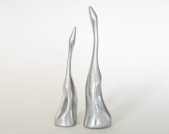 Modernist Metal Birds / Hostelton Aluminum Sculpture