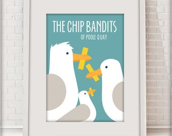 The Chip Bandits of Poole Quay, Love Dorset collection