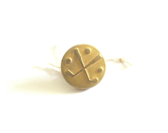 Golf Clubs and Balls Antique Button