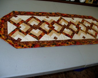 Fall Lovers Knot Table Runner