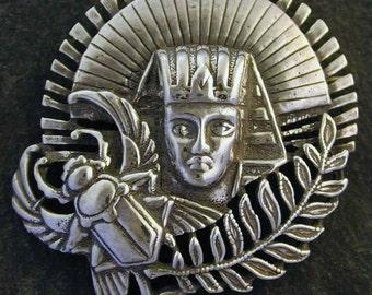 Sterling Silver Egyptian Brooch