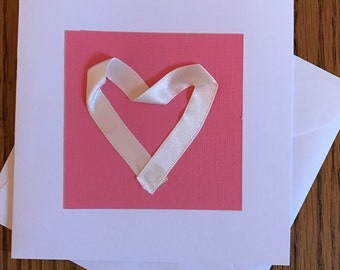 Ribbon heart card