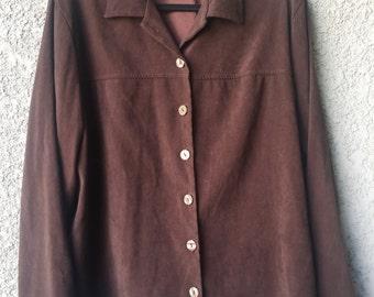 CLEARANCE XL Brown Cathy Daniels coat