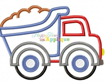 Dump Truck With Dirt Machine Embroidery Design