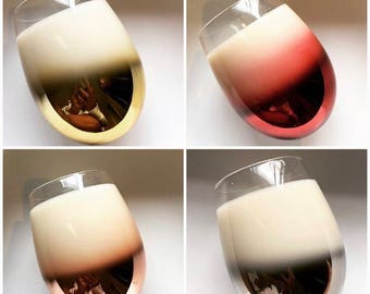 Stemless Ombre Soy Wax Candles | Home Decor | Soy Wax Candle | Gift | Birthday | Mothers Day | Wedding |