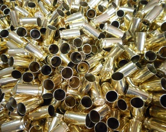 9MM Once Fired Brass 500 + Pieces, Cleaned and Polished. Perfect for Jewelry and Crafts. Supplies, Steampunk, DIY
