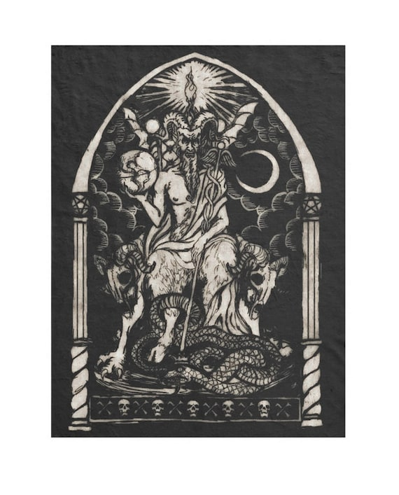 Lucifer the Light Bringer fleece throw blanket