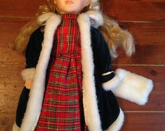 SALE - Vintage Christmas Doll