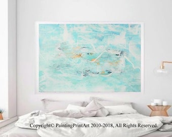 Print modern wall art abstract painted by Rita Perotti large blue oil painting acrylic original art abstract acrylic painting modern art oil