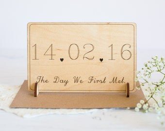 The Day We First Met - Valentine's Day Card - Card for Boyfriend - Card for Wife - Card for Husband - Gift for Wife - Card for Girlfriend