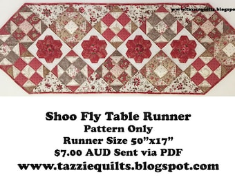 Shoo Fly Table Runner - A wonderful project to use up your scraps!