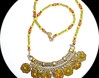 Clay dangles necklace