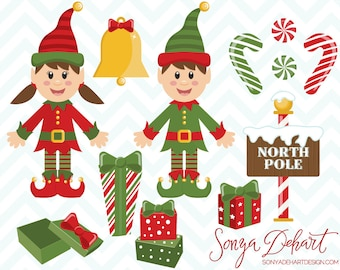 Elf Clipart, Christmas Clipart, Clipart Elf, Holiday Clipart, Clipart Christmas, Elf Clip Art, Christmas Clip Art