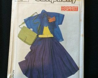 Simplicity 7264 Esprit Shirt, Halter Top and Skirt Pattern