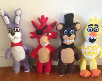 Handmade (Inspired) Five Nights at Freddy's Soft Plush Freddy and Bonnie FNAF Doll (Unofficial)