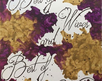 Best of Wives and Best of Women Encaustic