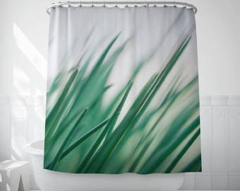 Grass Art Curtain, Shower Decor, Green Bath, Nature Photography, Bath Decoration, Green Shower Curtain, Nature Decor, Bath Linen