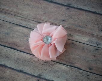 Pink Ribbon Hair Clip