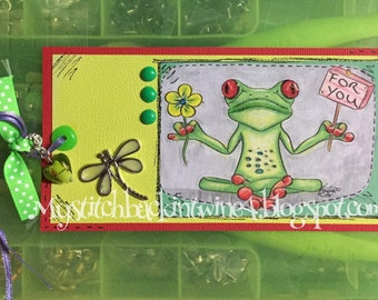 Digital stamp colouring image - For You Froggy . jpeg / png